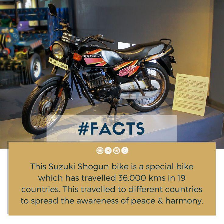 Suzuki Shogun bike is waiting to meet you at the museum this weekend!  #factfriday #facts #suzuki #shogun #vintagebikes #vintagecollection #heritagetransportmuseum #incredibleindia