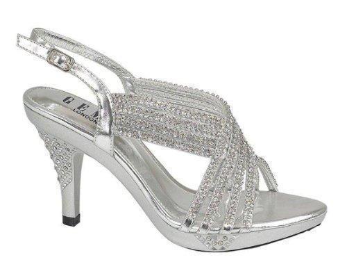 Oferta: 29€. Comprar Ofertas de Chic Feet - Sandalias de vestir para mujer, color Plata, talla 40 barato. ¡Mira las ofertas!