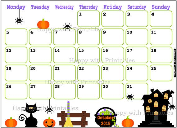 October 2015 Calendar Festivals - In this Post we're sharing latest Calendar Templates. Scroll Down the page and download Free October 2015 Calendar Template