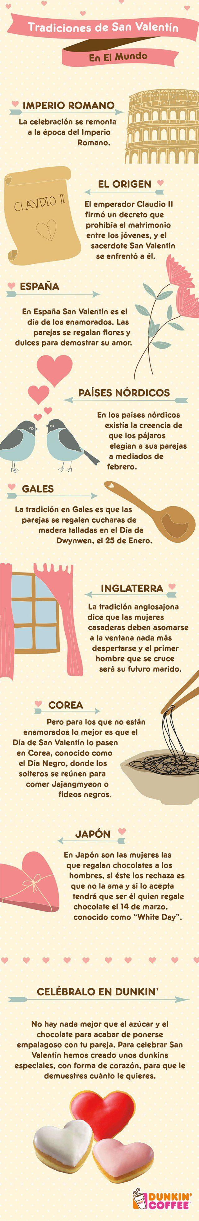 Tradiciones de San Valentín en el Mundo #infografia