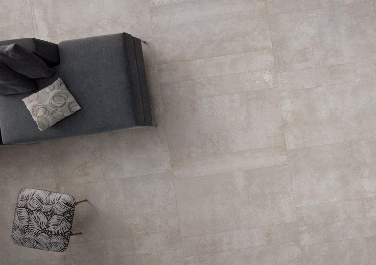 Effetto industriale Si integra perfettamente in ambienti moderni il rivestimento per #pavimenti in gres porcellanato che riproduce colori ed estetiche di materiali industriali come il corten, l'acciaio, il cemento e il piombo