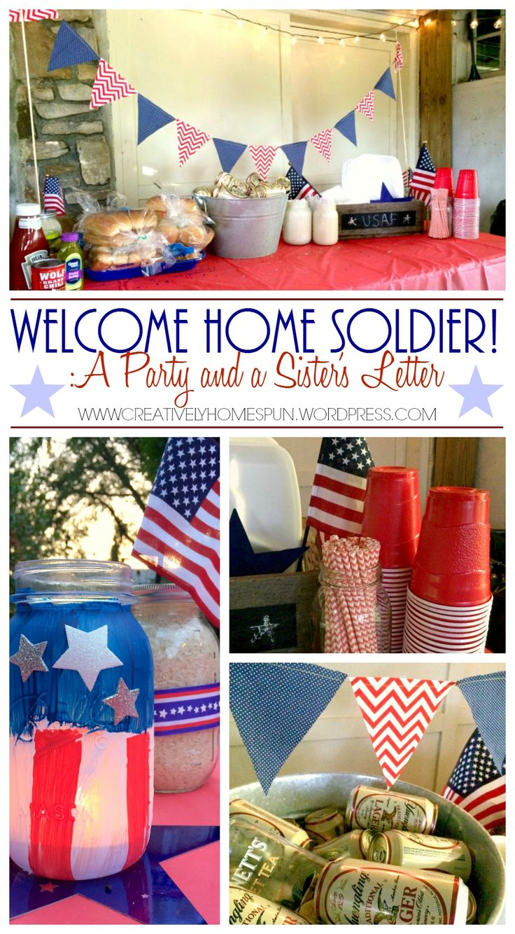 Welcome Home Soldier! :A Party and a Sister's Letter