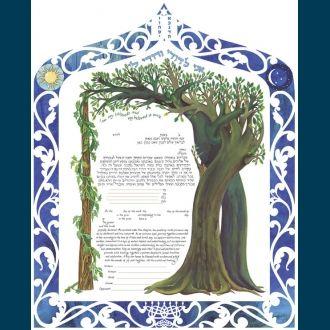 Intertwined Trees Ketubah