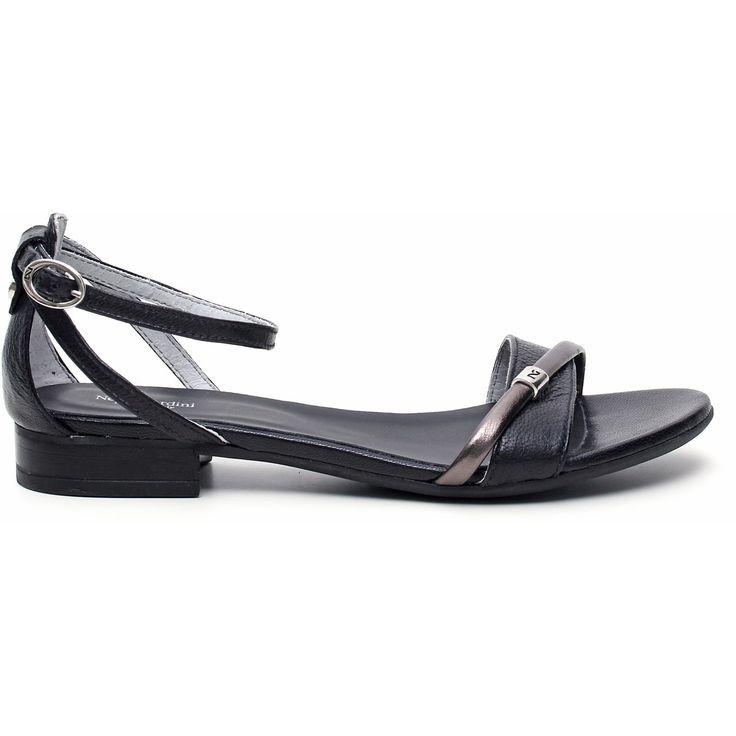 SANDALO DONNA PELLE – P512685D – 100 – NERO