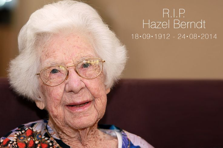 R.I.P. Aunty Hazel ...  My aunty Hazel passed away last night in her sleep, just a few weeks short of her one hundred and second (102) birthday.  Hazel was a woman who touched all those she met, with her genuine friendly smile, her love of life, family, all those around her ... and her never ending positive attitude.