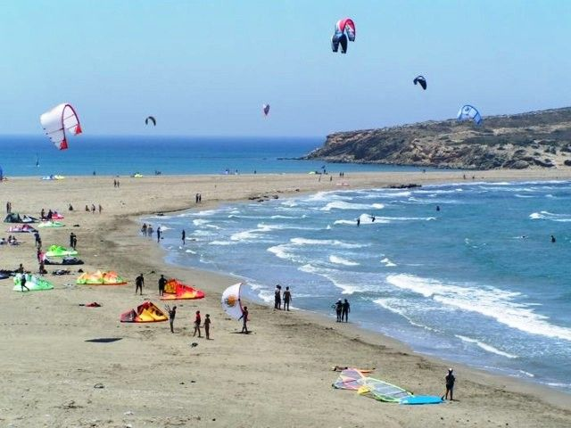 Kite surfing at Prasonisi
