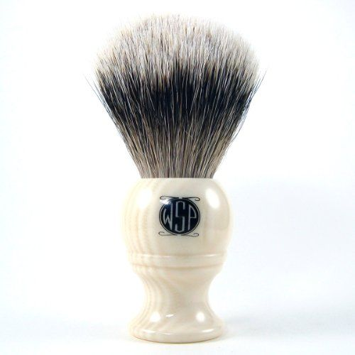 "The ""Monarch"" High Mountain White Silvertip Badger Shaving Brush at http://suliaszone.com/the-monarch-high-mountain-white-silvertip-badger-shaving-brush-2/"
