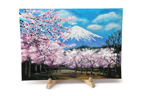 This Item Is Unavailable Etsy Cherry Blossom Painting Acrylic Cherry Blossom Art Cherry Blossom Painting