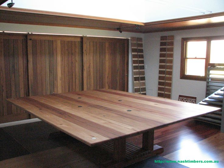 Table, Doors and Windows built from Timber out of Recycled Power Poles