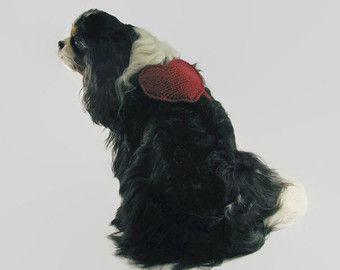 Portabolsas de bolsa de caca de perro corazón en forma de perro mochila perro decoración fiesta perro perro mochila mediana perro de perro Cavalier accesorios