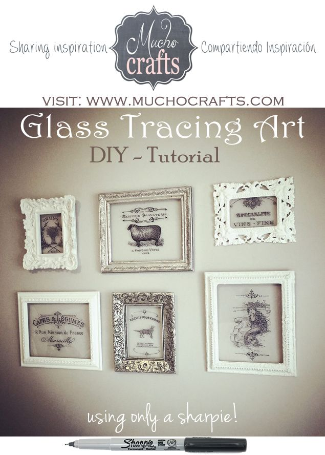 DIY - Tracing On Glass -Tutorial trace mermaid on glass. Check out Graphics Fairy.