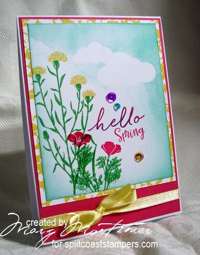 CC633, Spring Hello by Margscardcrazy - Cards and Paper Crafts at Splitcoaststampers