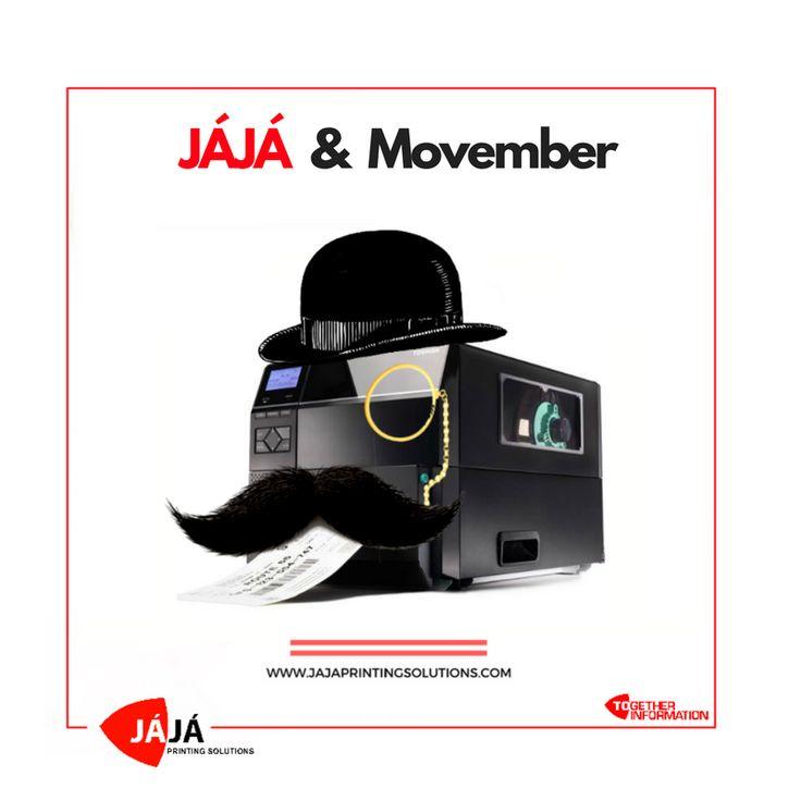 """JÁJÁ & Movember : Uma maneira divertida de consciencialização da saúde masculina. Para um Novembro muito masculino !  """"Change the face of men's health."""" 👨 💪  #november #movember #noshavenovember #againstcancer #menshealth #toshiba #grupojaja #jajaprintingsolutions"""