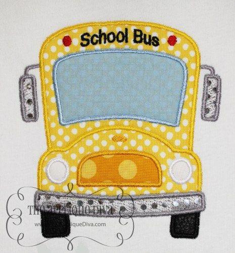 School Bus Embroidery Design Machine Applique. $2.99, via Etsy.