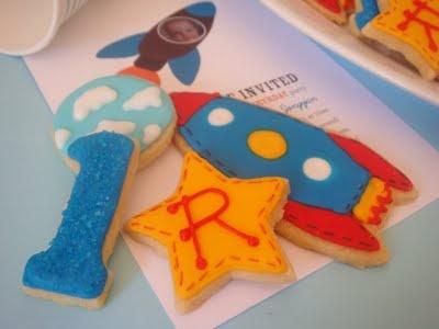 Rocket ship cookies