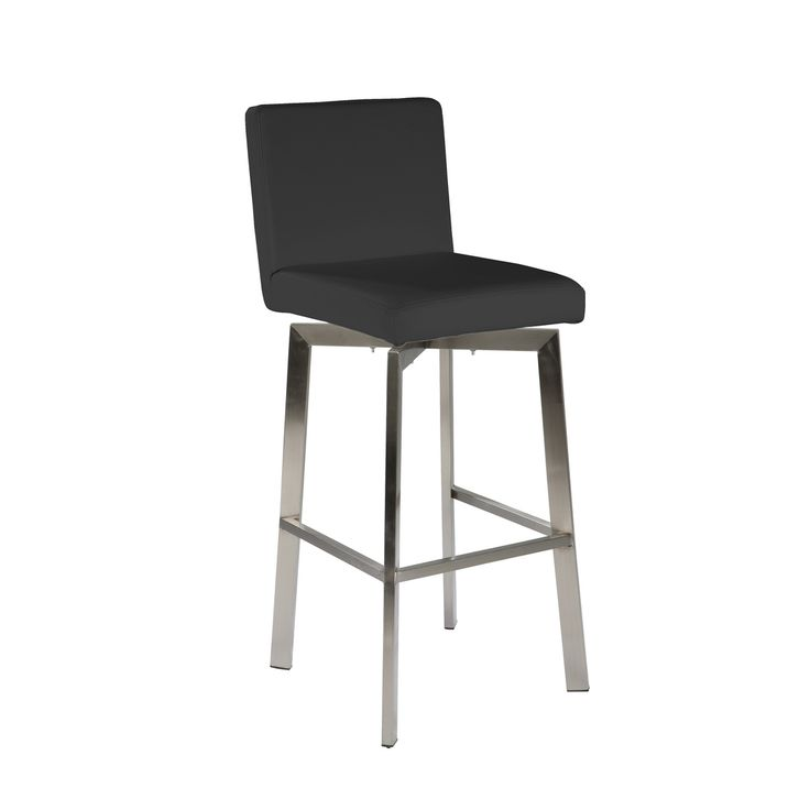 bar stools u0026 kitchen counter stools swivel barcounter stool with brushed stainless - Modern Counter Stools