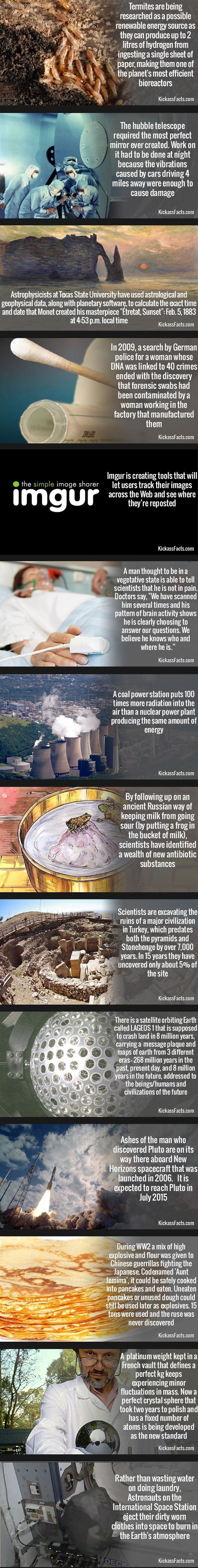 Cool Science Tech facts - that last one tho. I want to burn my dirty laundry in Earth's atmosphere.