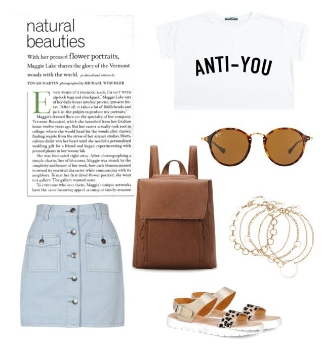 Untitled #128 by ioannagesouli on Polyvore featuring polyvore fashion style Minga MINKPINK Boohoo Ray-Ban clothing