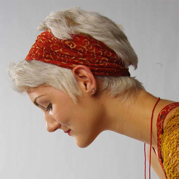 Motorcycle Babe Headband Hand Made Batik Rayon Stretch Fair Trade Indonesia NWT #HandmadeFairTrade #Bohemian #YogaExerciseMotorcycleBadHairDay