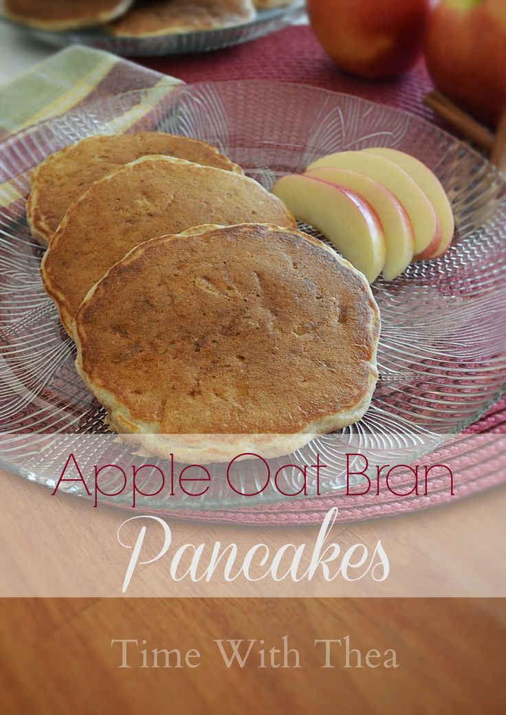 Apple Oat Bran Pancakes:These pancakes are quite tasty with the grated apple and just a hint of cinnamon.