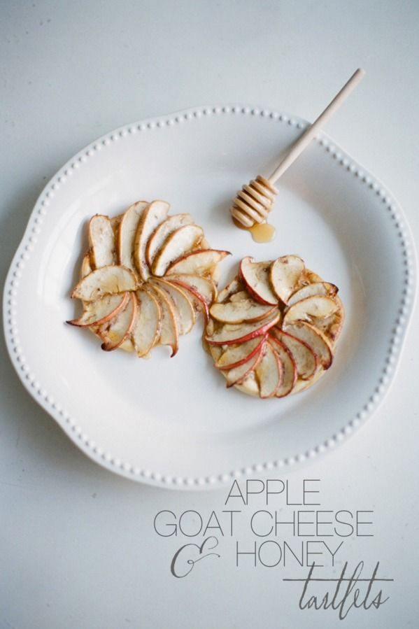 Apple, Goat Cheese & Honey Tartlets from Jessica Lorren | Goat Cheese ...