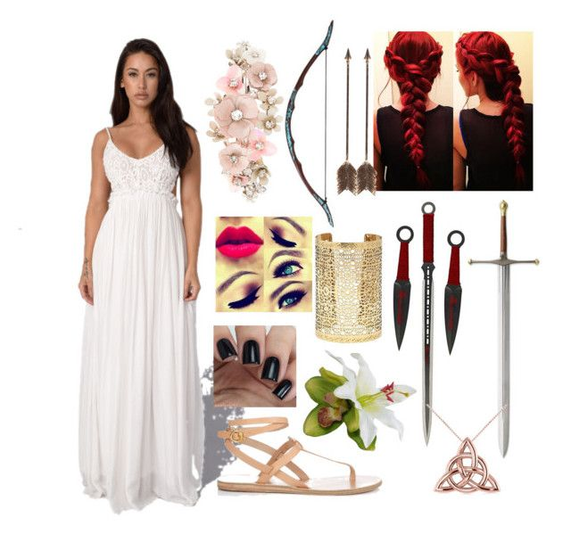 """TROY ( movie with Brad Pitt)"" by alaskan-bush-people ❤ liked on Polyvore featuring Ancient Greek Sandals, Creative Co-op, Accessorize, Forever 21 and Allurez"