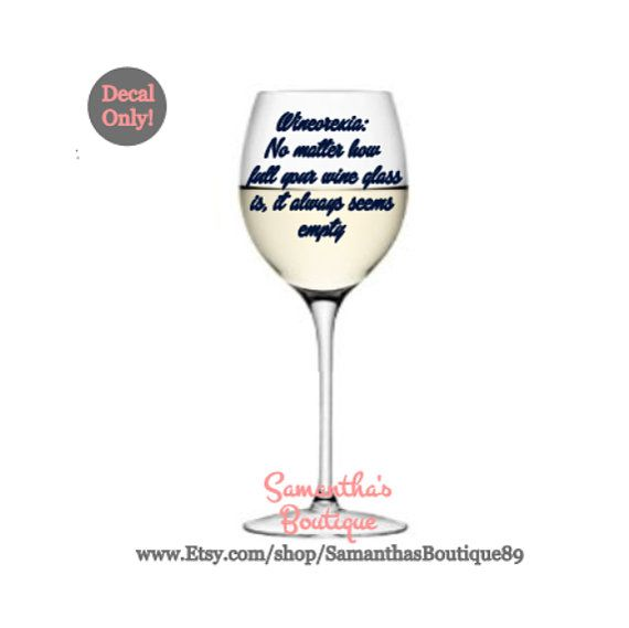 Best Wine Glass Decals Images On Pinterest Vinyl Decals - Vinyl decals for drinking glasses