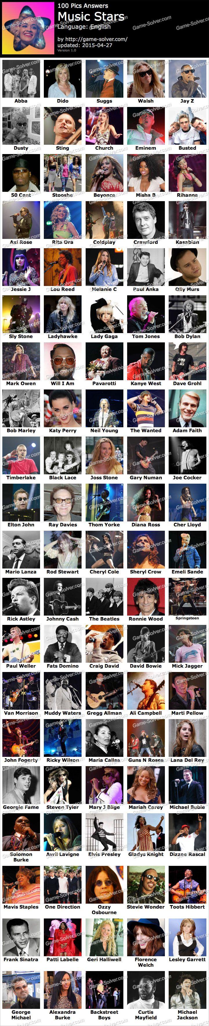 100 Pics Answers Movie Stars : answers, movie, stars, Music, Stars, Star,, Pics,
