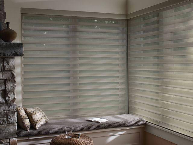39 best sheer shadings images on pinterest shades for Hunter douglas motorized blinds cost
