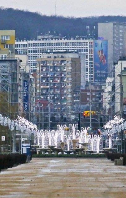 Winter Fountain, Kosciusko Square, Gdynia- Polska