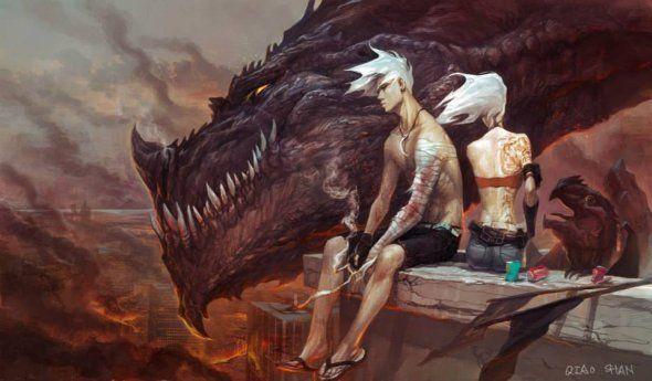 As ilustrações de fantasia e ficção científica de Shan Qiao