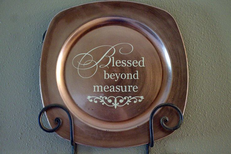 Shady Creek Lane: Blessed beyond measure charger plate