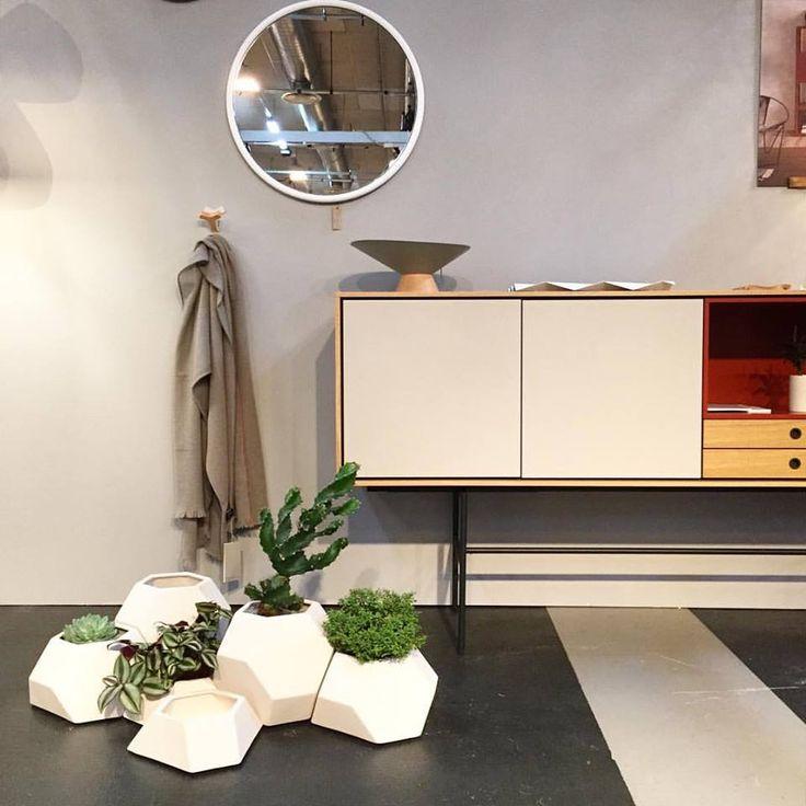 Ma-Ce-Ta ceramic planters. Sold in set of 3. Handmade in Spain. Design by Miguel Ángel Garcia Belmonte. Photo credits: Noes Design  #interiordesign #planters #handmade #nordicdesign #ceramic #plant #maceta #pott #potteryproject #design #messen2015 #indoorgarden #pottery #modulargarden