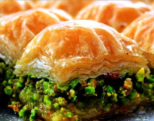 More and More, Turkish Pistachio Baklava - this is heaven...