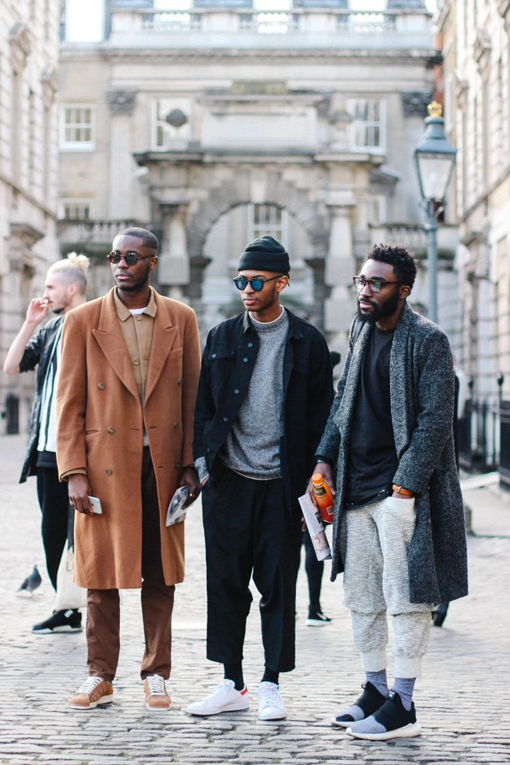 Stylish boys at LFW.