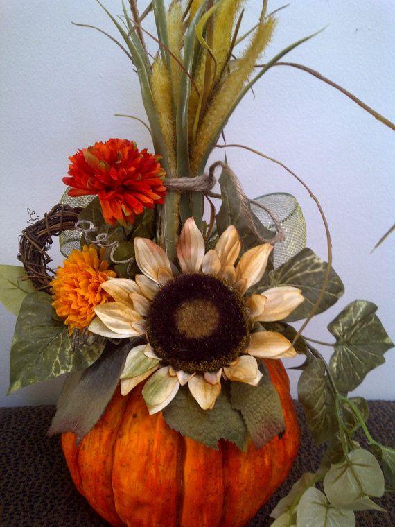 Best 25 Pumpkin Floral Arrangements Ideas On Pinterest Pumpkin