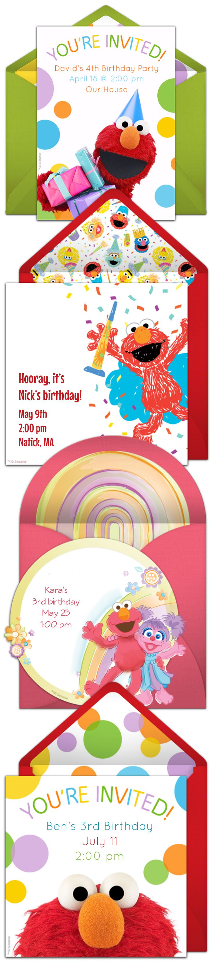 17 Best images about Sesame Street Birthday – Punchbowl Birthday Invitations