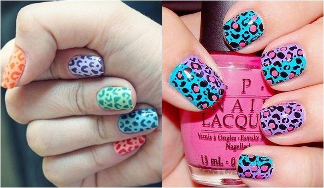Diferentes motivos de animal print para lucir unas uñas chic | Decoración de Uñas - Manicura y Nail Art