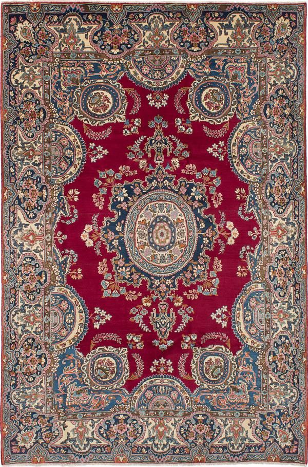Persian Yazd 6 6 X 10 0 Hand Knotted Rug Ecarpetgallery With