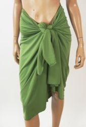 Effen rekbare linde groene pareo / omslagdoek