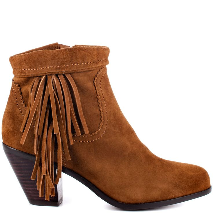 Louie - Cocoa Suede  Sam Edelman: Moccasins Boots, Cocoa Su, Heels Su Boots With Fringes, Cute Shoes, Brown Suede, Ankle Boots, Woman Shoes, Brown Boots Heels, Boots Shoes