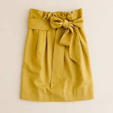 want.: J Crew, Colors, Bows Skirts, Yellow Skirts, Mustard Skirts, White Blouses, Jcrew, Mustard Yellow, Cute Skirts