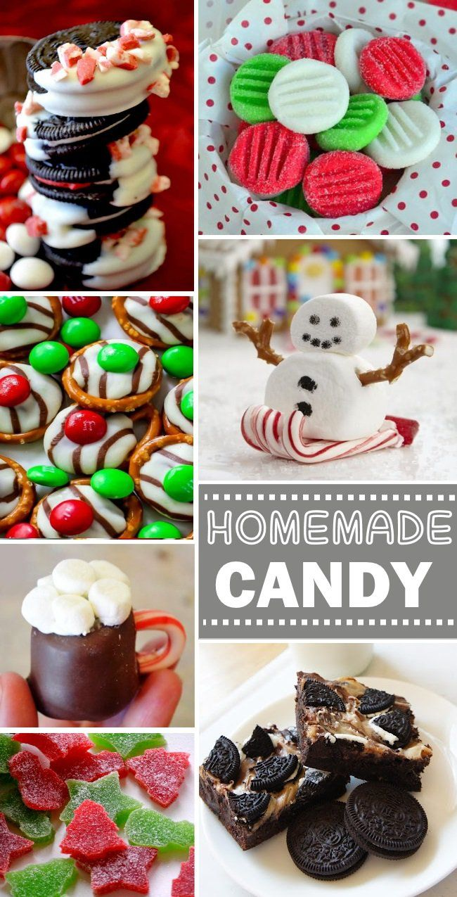 Homemade Candy Recipes for Christmas - so many that I want to try! Yummy homemade candy treats.