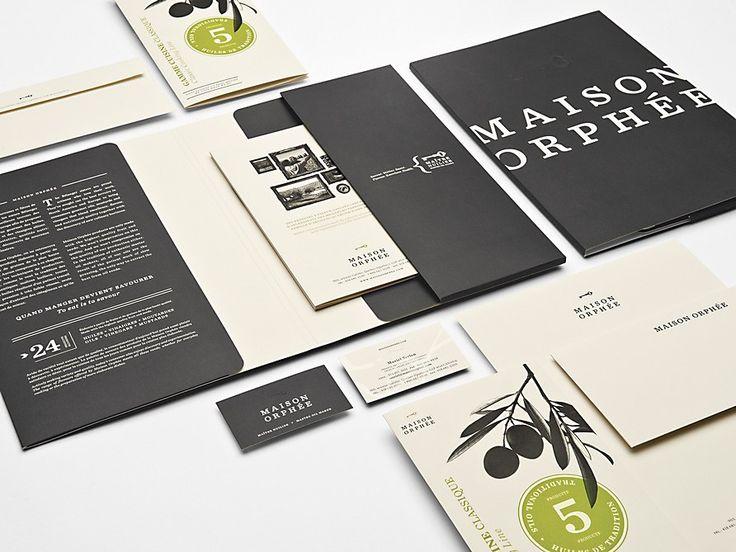 maison orphée: Corporate Design, Design Inspiration, Colors Combos, Maison Orphé, Identity Branding, Olives Oil, Graphicdesign, Graphics Design, Oil Produce