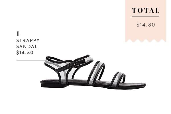 A Complete Summer Wardrobe For $1,000 -Forever 21 Mesh Strappy Sandal $14.80 #spring #summer