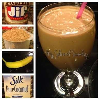Chocolate Peanut Butter Meal Replacement Recipe (for weight loss) :: one serving choco/peanut butter protein powder, one spoonful of peanut butter, one banana, 2 cups of milk (soy, almond, coconut etc) and handful o icecubes :: nutribullet recipe