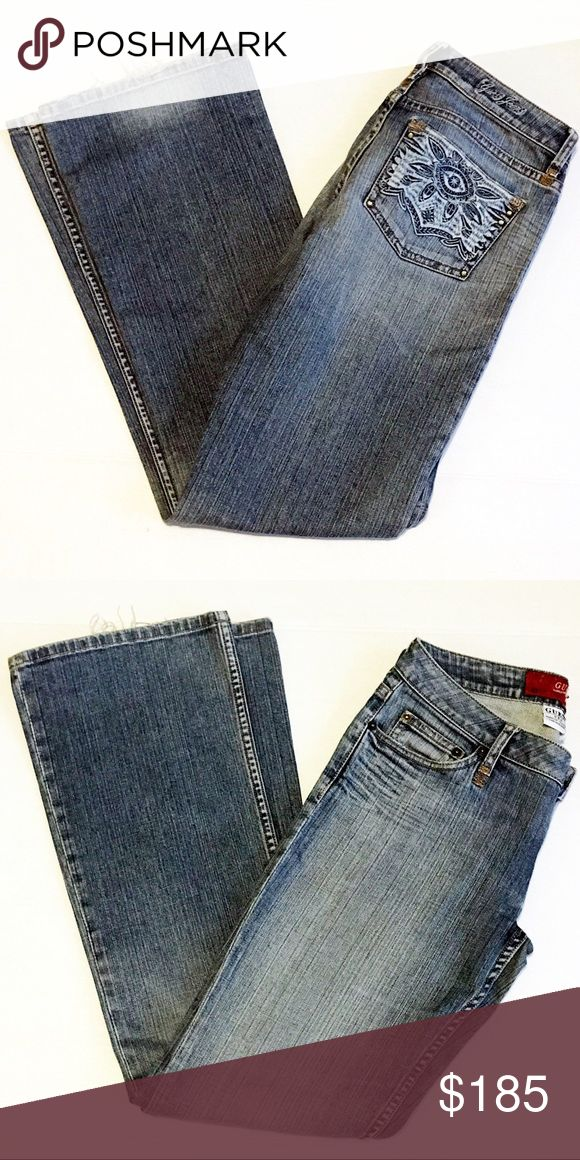Vintage Guess Marciano Jeans Vintage Guess Marciano Jeans   Item: Vintage Guess Marciano Jeans Color: blue Style: stretch jeans Size: 27  These Guess jeans manufactured exclusively for Marciano are in fabulous condition. Some minor fraying at cuff. Tag is worn but otherwise jeans are in really good condition.    **Please see all photos. Feel free to ask any questions before purchase**   BIN# A199 Guess by Marciano Jeans