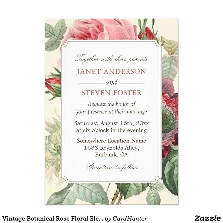 22 best Rose Wedding Invitations images on Pinterest   Rose wedding ...