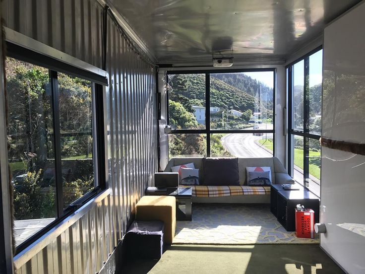 Hard to believe it's the middle of winter #nofilter #owhirobay #wellingtonnz #wellingtonlivenz #wellingtonsouthcoast #containerhome #containerhouse #containerhomes #cinemaroom #projector #uniquehomes