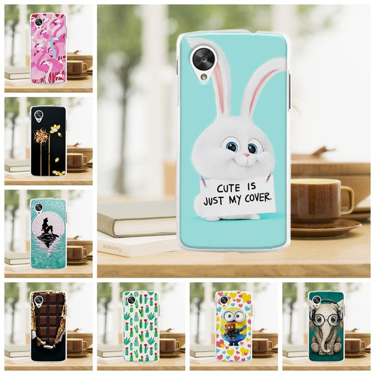 Cute Cartoon Hard Plastic Case Coque For LG Google Nexus 5 E980 D820 D821 Colorful Mermaid Cover Funda For LG Nexus 5 Case Capa